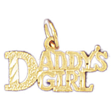 14K GOLD SAYING CHARM - DADDY'S GIRL #9886