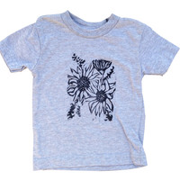 Sunflower Block Print Toddler Shirt