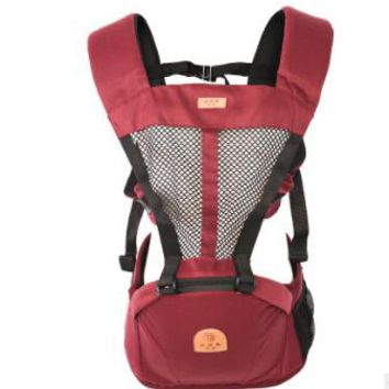 Toddler Backpack class Baby Carrier Infant Toddler Hip Seat Rider Backpack Sling Newborn Kangaroo Pouch 3-36 Months Cotton Breathable Multifunction AT_50_3