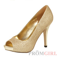 Gold Glitter Mylie Shoes by Colorful Creations