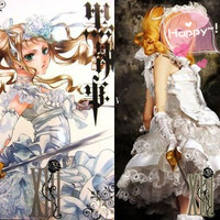 Elizabeth Ethel Cordelia Midford Fancy Manga White Dress Costume