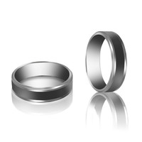 Classic 6mm Stainless Steel Anniversary Wedding Bands For Men R356