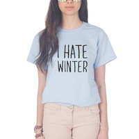 I Hate Winter Christmas T-shirt