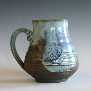 LARGE Coffee Mug, 17 oz, handmade ceramic cup, handthrown mug, stoneware mug, pottery mug, unique coffee mug, ceramics and pottery