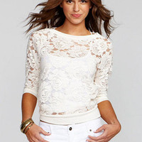 Floral Lace Pullover