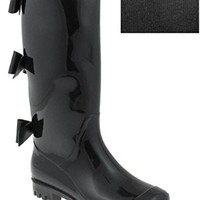 Capelli New York Shiny Solid Opaque Jelly Rain Boot