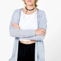 Eve Marl Loose Knit Slouchy Pocket Cardigan