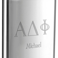 8 oz Stainless Steel Fraternity Liquor Flask - Free Engraving