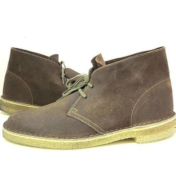 Clarks Originals Clarks Desert Boot - Taupe Distressed Leather