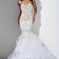 White Evening Gown #26947