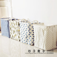 new Zakka waterproof beam barrels dirty barrel folding clothes toys bra underwear creative thickened storage Bin laundry basket