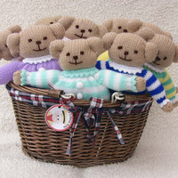 Hand-knitted Pyjama Teddy Bear Toy