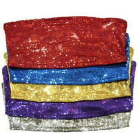 Sequin Bandeau Top In Red - Bliss Salon and Boutique