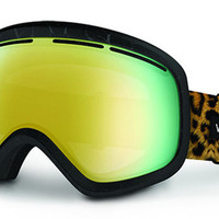VonZipper - Skylab Blacksoft Touch Satin LEO Goggles, Gold Chrome Lenses