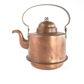 Rare Copper Teapot by Gottfrid Carlsson Made in Sweden 2.5L, Antique Gottfrid Carlsson Swedish Copper Teapot