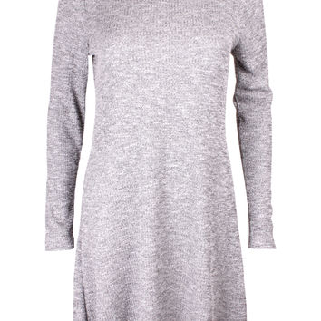 Terisa Grey Polo Neck Dress