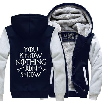 Adult You Know Nothing Jon Snow, Game of Thrones Fleece Jacket