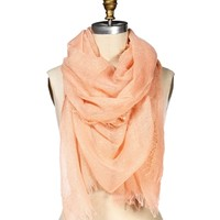 Peach And Gold Scarf