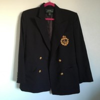Incredible #RalphLauren #crest #blazer, size 6. All wool, amazing condition. ...