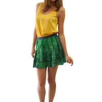 Gryphon New York pleated Claudia mini skirt shop Carolina Boutique Mill Valley.