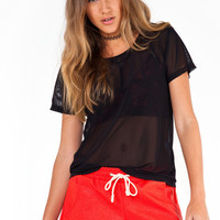 Meshed Up Tee - BLACK /