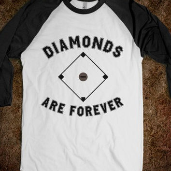 DIamonds Are Forever Baseball Tee