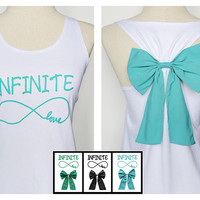 Infinite Tank Premium with Bow : Dolly Bow Handmade Premium Tank with Bow styles
