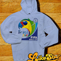 "Copa FIFA World Cup Brasil 2014 Logo Men Hoodie-Football Hoodie - World Cup 2014 Design Hoodie for Men (Color Available-Print Size 10""x10"")"