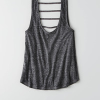 AEO Burnout Strappy Back Tank , Green