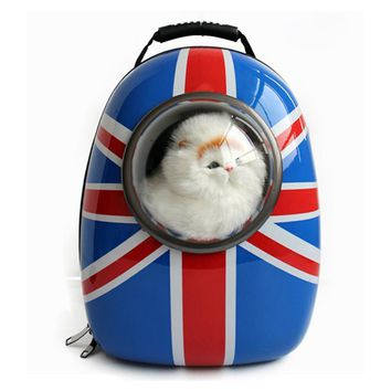 Mutifunctional pet backpack for cat Dog Carrier American flag pattern for small dogs carrier Space capsule