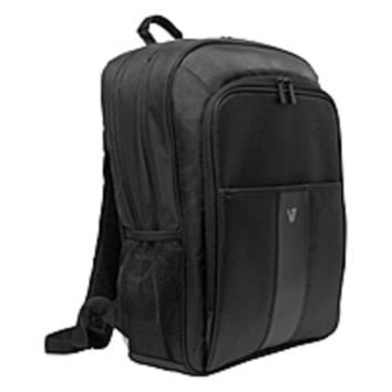 V7 Professional CBP21-9N Carrying Case (Backpack) for 16 Notebook, Tablet, Smartphone, Business Card, Pen, Key - Weather Resistant Interior, Moisture Resistant Handle - Nylon - Shoulder Strap, Handle - 17.5 Height x 12.5 Width x 5 Depth