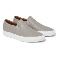 Common Projects - Perforated Leather Slip-On Sneakers   MR PORTER
