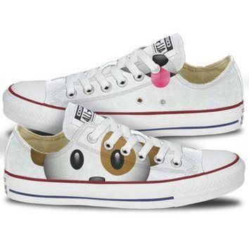DCKL9 Converse Dog Emoji Low Top Chucks