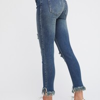 Free People Great Heights Frayed Skinnies
