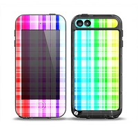 The Bright Rainbow Plaid Pattern Skin for the iPod Touch 5th Generation frē LifeProof Case