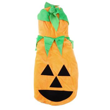 Lovely Pet Dog Clothes Halloween Hoodie Pumpkin Sweater Clothing Costume Halloween Dog Decoration Ornament Pet Supplies
