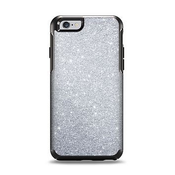 The Silver Sparkly Glitter Ultra Metallic Apple iPhone 6 Otterbox Symmetry Case Skin Set