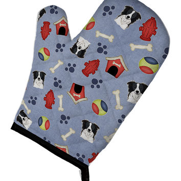 Dog House Collection Border Collie Oven Mitt BB4020OVMT