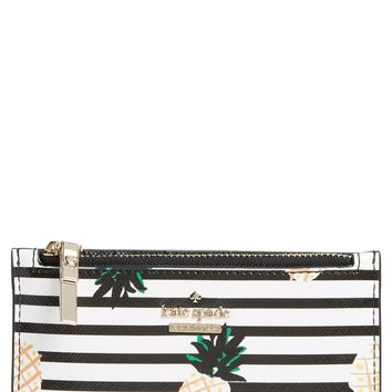 kate spade new york cameron street - mikey pineapples glazed canvas wallet | Nordstrom
