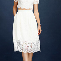 J.Crew Womens Collection Floral Lace Skirt