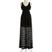 Vintage Havana Crocheted Cut-Out Maxi Dress