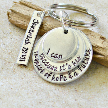 Jeremiah 29:11 For I know the plans I have for you Scripture Jewelry Bible verse jewelry Heel Lilies Recovery Gift Sobriety Gift 12 step