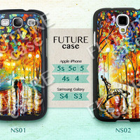 Night Street iphone 5 case Oil Printing light in street iPhone Case iphone 5s case iphone 5c case Hard or Soft Case-NS02