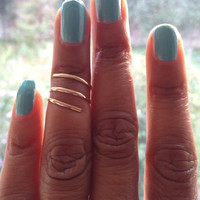 Gold Midi Ring Spiral Ring UK Shop