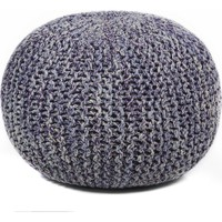 """Hand-Knitted Contemporary Cotton Cord Pouf Outer: Cotton Filling: Cotton (1'6X1'6X1'4)"""