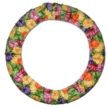 Tulip Steering Wheel Cover, Floral Cute Girly Car Wheel Cover, Handmade in USA, Custom Car Accessory