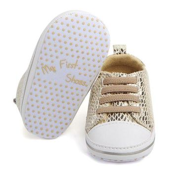 My First Shoes' Soft Bottom Sole Bling Mesh Anti-slip Shoes