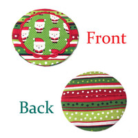 Christmas Coasters Set of 4 - Party Coasters - Santa Coasters - Unique Hostess Gift - Gifts for Her, Mom, Friends - Gifts Under 15, 20, 25