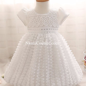 Baby Girl Brand Ceremony Party Dress Costumes For Baby  Girl Wedding Christening Gown GC009