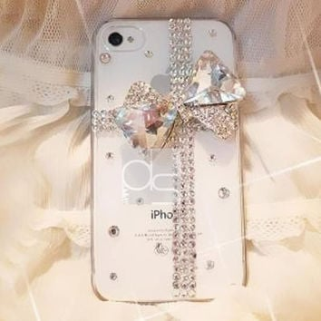 Bling iPhone 4 S Case for iPhone 4 Case iPhone 5C Cover iPhone 3 Skin Case iPhone 3GS Bling Case iPhone 5G Case iPhone 5 S Bling Case Ribbon